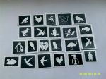 10 - 150  Bird themed stencils (mixed) for glitter tattoos / airbrush / cakes   swan  eagle  ostrich  owl  penguin